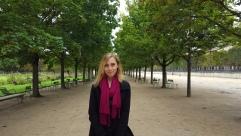 Visiting the Jardin des Tuileries in Paris.